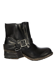 Photo: Jules Biker Boot>>  UK>http://bit.ly/PGh9tt US>http://bit.ly/PRwV5j  The Jules Biker Boot is a classic ankle boot made using Italian leather. Fully lined and featuring a removeable AllSaints harness strap and an inside zip; this style is fully washed and hand finished. The Jules Biker has a specially designed AllSaints heel. A real stand out item from our Autumn 2012 collection.