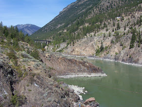 Photo: Old bridge, Fraser River near Lillooet