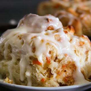 One Hour Carrot Cake Cinnamon Rolls.