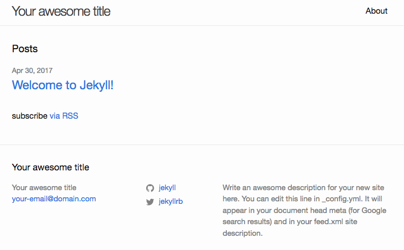 Initial default blog