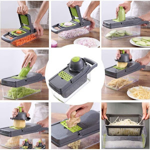 Razatoare Veggie Slicer 14 piese, lame inox + maner protectie