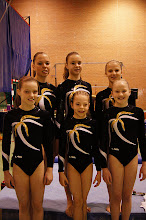 Photo: 1e en talentendivisieturnsters  2e districtwedstrijd Deventer: Ammelie, Nienke, Eline, Yara, Indy en Chantal