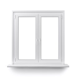 Plain glass window