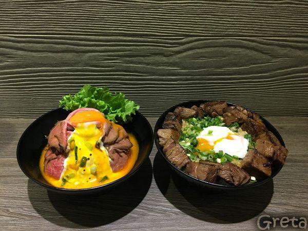 山丼 _粉嫩的澳洲和牛披上白雪皚皚的優格_用最邪惡的金黃蛋液點綴_一碗不容錯過的玫瑰和牛丼