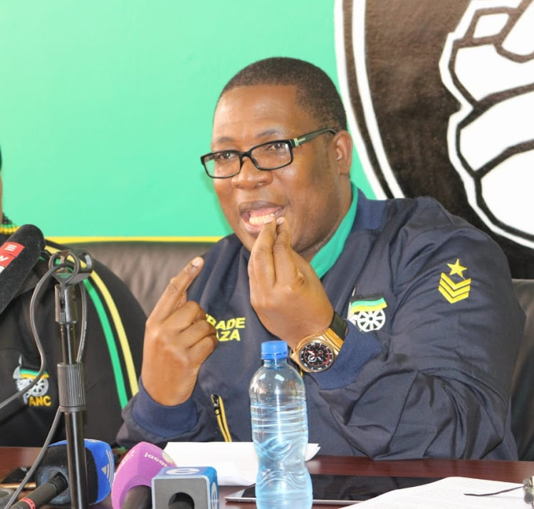 ANC Gauteng deputy provincial chairperson Panyaza Lesufi speaks at a a press conference his party held on Sunday in Johannesburg on the state of DA-led coalition governments in Pretoria and Johannesburg.