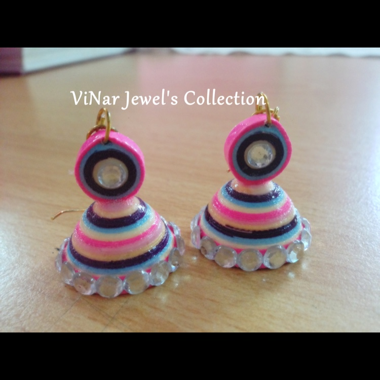 Candy Colorfull quilling earrings by Vinar Jewel