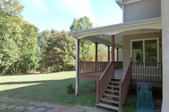 Photo: Back deck from driveway.