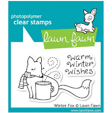 Lawn Fawn Clear Stamps 3X2 - Winter Fox