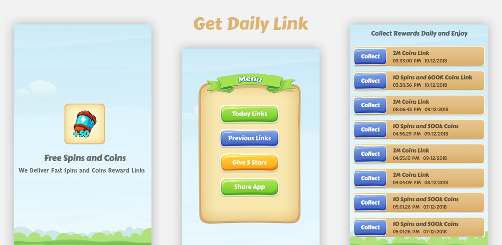 Download Daily Free Spins and Coins - Updated Links Latest Version