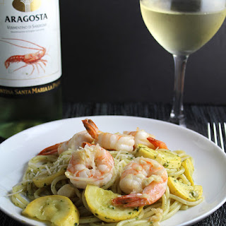 Summer Spaghetti with Garlicky Shrimp