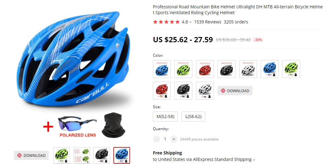 helmets as dropshipping products to avoid