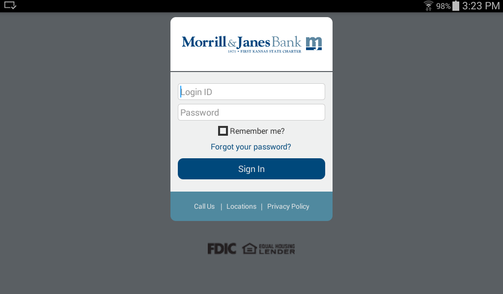 Morrill & Janes Bank and Trust- screenshot