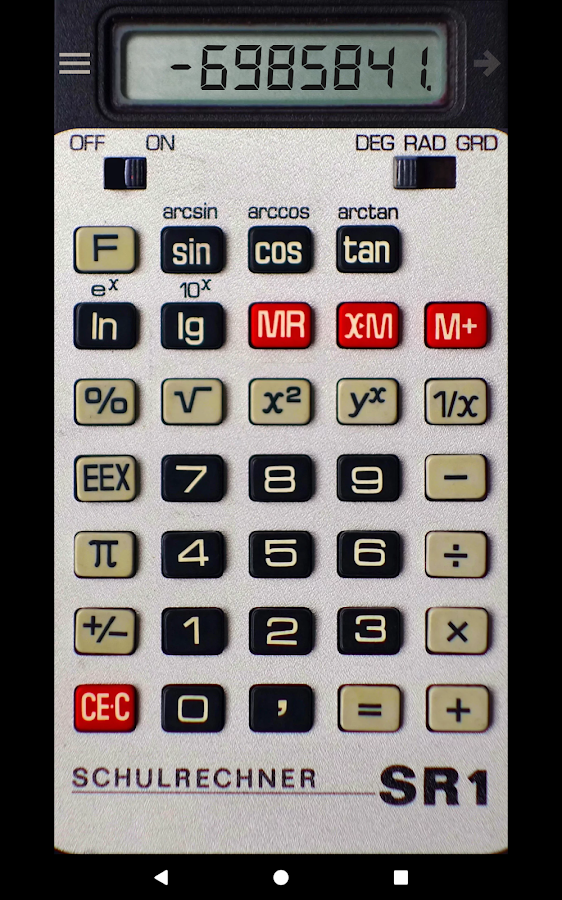Calculator SR1- screenshot