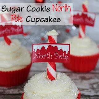 Sugar Cookie North Pole Cupcakes