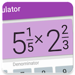 Fraction calculator: easy solve fractions problems Icon