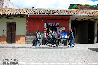 Photo: The FCT crew on the streets of Cuenca.