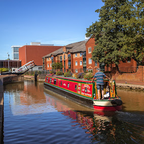Happy days and holidays by Carol Henson - Transportation Boats ( banbury, water, oxford canal, barge, castle quay, canal )