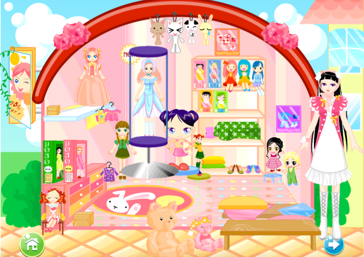 Dollhouse decor game for girls android apps on google play Free home decorating games