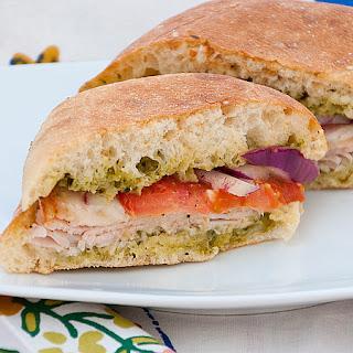 Costco Turkey and Provolone Sandwich.