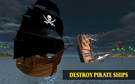 Caribbean Sea Outlaw Pirate Ship Battle 3D android2mod screenshots 8