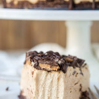 Low Carb Peanut Butter Cup Cheesecake.