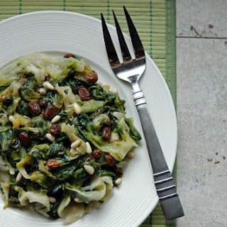Escarole with Raisins and Pine Nuts