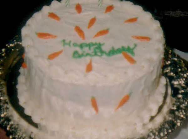 I Used My Sister's Recipe For Her Luscious Carrot Cake. It's Decorated With A Cream Cheese Frosting