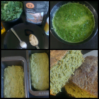 Kale & Wholemeal Spelt Flour Bread Recipe