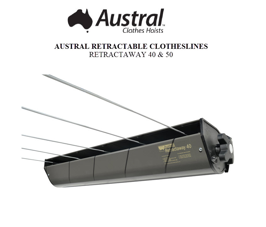 Austral Retractaway 40 Retractable Clothesline Owners Manual RA40CC RA40WG