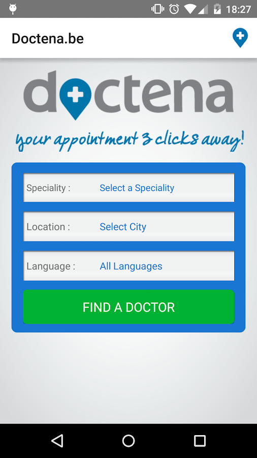 Doctena.be- screenshot