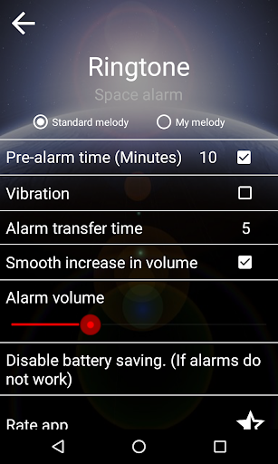 Good alarm clock without ads with music and widget screenshot 6