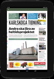 Karlskoga Tidning e-tidning - náhled