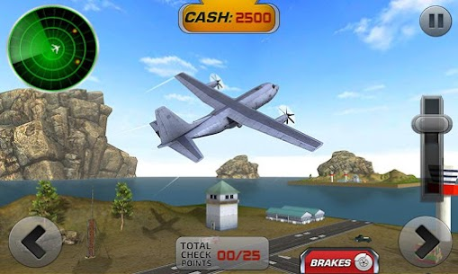 Fly Airplane 3D: Plane Flight Simulator 2017 1.0.5 Android Mod + APK + Data 2