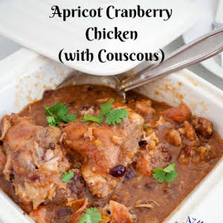 Slow Cooker Apricot Cranberry Chicken with Couscous.