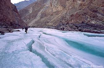 Photo: ici la glace est très épaisse