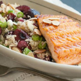 Grilled Salmon Cherry Couscous.