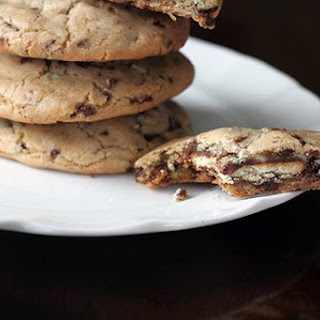 Chocolate Ritz Stuffed Mint Chocolate Chip Cookie