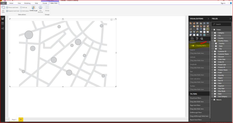 Maps & Hierarchy in Microsoft Power BI 34