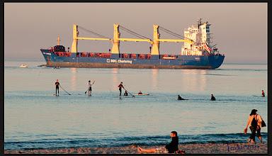 Photo: Schifffahrt mit drei fff  ******************************************************************* errywaves ostsee balticsea strand playa praia beach        surfing wellenreiten