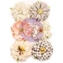 Prima Spring Farmhouse Mulberry Paper Flowers 6/Pkg - Farmhouse Delight UTGÅENDE