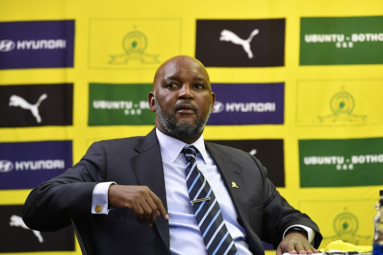 Coach Pitso Mosimane during the Mamelodi Sundowns 50th anniversary announcements in Sandton on May 21, 2020 in Johannesburg, Fle photo: GALLO IMAGES/Lefty Shivambu