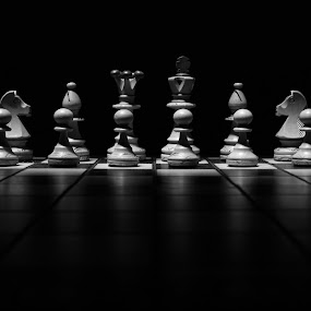 Chess by Dmitriy Yanushevichus - Uncategorized All Uncategorized ( black and white, chess, strategy, chessboard, game, competition )