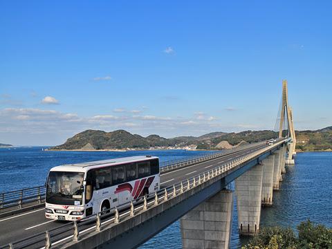 西鉄「フェニックス号」インスタ映えツアー 6016 鷹島肥前大橋にて