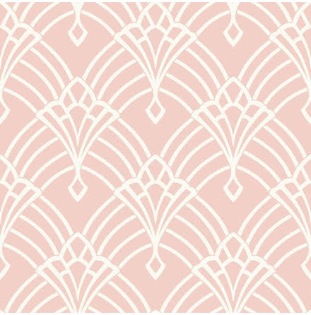 Waldorf Deco rosa vit tapet 274416