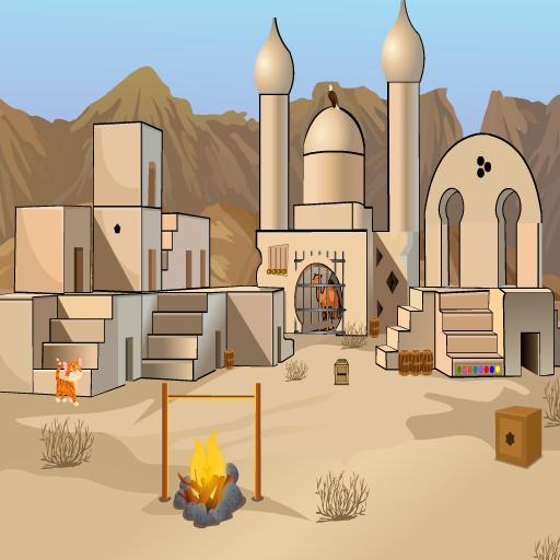 Camel Escape From Desert