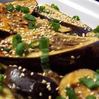 Orange Miso Eggplant.