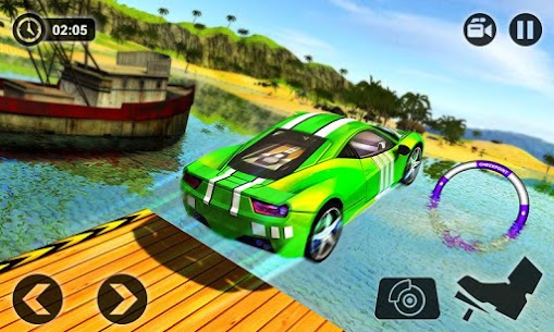 Floating Water Surfer Car Driving – Beach Racing 2