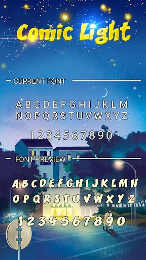 Comic Light Font for FlipFont,Cool Fonts Text Free screenshots 3
