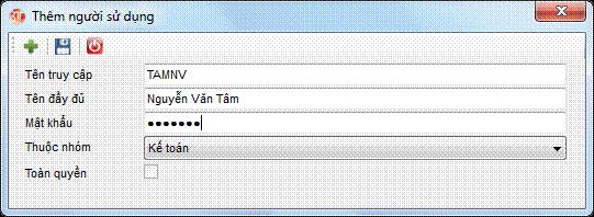 Quản lý người sử dụng phần mềm kế toán 3TSoft