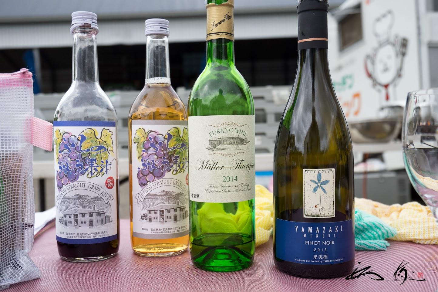 道産ワイン&ぶどうジュース